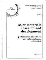 Solar Materials Research and Development: Performance Criteria for New Solar Materials